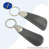 Trousseau de clés promotionnel personnalisé personnalisé de cuir de chausse-pied d'unité centrale de forme (FTKC1577A)