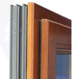 تجاريّة مزدوجة زجاجيّة خشبيّة وألومنيوم [تيلت&تثرن] نافذة