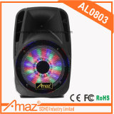 Al0803 무선 Mic 원형 빛을%s 가진 휴대용 트롤리 스피커