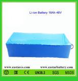 pacchetto ricaricabile della batteria di litio di 48V 18ah con la certificazione del Ce