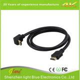 90 cabo angular da direita HDMI 2.0V do grau para o projetor