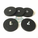 Черные резиновый магнитные основания с резъбой штангой