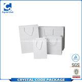Sac blanc imperméable à l'eau de papier d'emballage d'impression faite sur commande