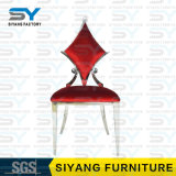 椅子を食事するホーム家具の金属の椅子の灰色のビロード