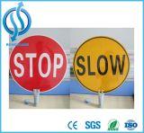 反射交通安全の表記に警告する道路