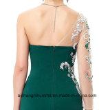 Vestido A do baile de finalistas da sereia - linha vestido de noite longo das luvas