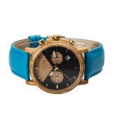Comercio al por mayor reloj de madera para los hombres con cronógrafo Movment