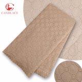 Il nuovo prodotto esce merletto molle bianco delle pietre del cotone del tessuto di cotone