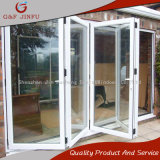 Puerta deslizante BI-Plegable exterior del panel del aluminio de la doble vidriera