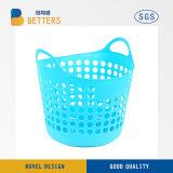 Suministros de diario más vendido Cesta de plástico de gran Servicio de lavandería con asa para la venta