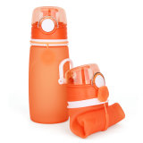 Нетоксическая бутылка воды силикона качества еды 550ml