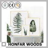 Natürlicher festes Holz-Abbildung-Foto-Rahmen für Salon-Stab-Dekoration