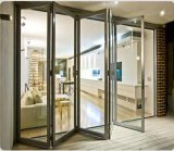 Двери алюминия Bi-Складывая стеклянные