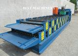 Colorare il rullo d'acciaio di doppio strato delle mattonelle di tetto dello strato di profilo che forma la macchina