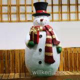 De Schop van de Familie van de sneeuwman van Kerstboom siert de Gepersonaliseerde Decoratie van de Vakantie van het Huis van Giften