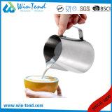 スケールが付いている卸し売りステンレス鋼のカプチーノのクリームのコーヒーミルクの水差し