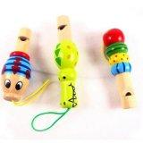 Les enfants Instrument de musique en bois jouet éducatif Kids Cartoon Animal sifflet