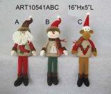 산타클로스 눈사람 순록 각자 참석자 크리스마스 훈장 선물