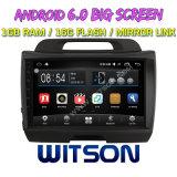 """Grand écran 9"""" Witson Android 6.0 DVD pour voiture Kia Sportage (basse avec moteur 2.0L)"""