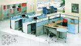 4개의 시트 위원회 분할 컴퓨터 책상을%s 가진 현대 사무실 워크 스테이션