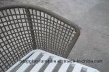 Neuer gesponnene im Freiensofa-gesetzte Garten-Möbel des Entwurfs-2018 Riemen (TG-S196)