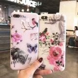 Caisse neuve de téléphone de couverture de la fleur TPU de type pour l'iPhone 6/7plus