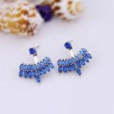 普及したサファイアの魅力のイヤリングの宝石類の真鍮のスタッドのイヤリング