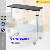 Krankenhaus Thr-Yu610 hölzerner justierbarer beweglicher Overbed Tisch