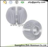 O alumínio do girassol do material de construção do revestimento do pó perfila o dissipador de calor