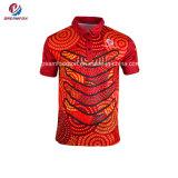 高品質の人のワイシャツのスポーツ・ウェアの習慣によって昇華させるポロシャツ