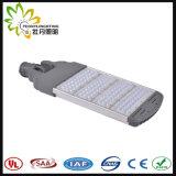 Luz de rua ajustável 200W ao ar livre do diodo emissor de luz, lâmpada de rua solar barata do diodo emissor de luz da luz de rua do diodo emissor de luz com aprovaçã0 de Ce& RoHS