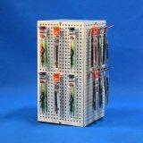 Het tegen Rek van de Vertoning van de Stickers van de Magneet van de Koelkast van Turnable van het Staal (PHD8015)