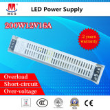 SMPS 12V 16A AC DCのLEDの照明200Wのための単一の出力切換えスイッチ電源