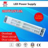 SMPS 12V 16A Schaltungs-Stromversorgung für LED-Beleuchtung 200W