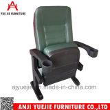 컵 홀더 Yj1807g를 가진 녹색 PU 가죽 덮개 극장 영화관 의자