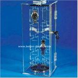 Cas d'exposition tournant Btr-F1013 de montre d'acrylique clair