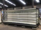 Supermercado Multideck remoto frigorífico para exibição de frutas e legumes