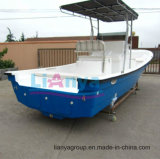 Одобренный Ce рыбацкой лодки разбивочного пульта шлюпки волокна Liya 25FT