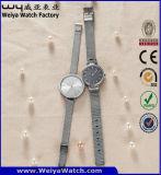 Montre-bracelet classique de mode d'ODM de dames faites sur commande de courroie en cuir (WY-P17006B)