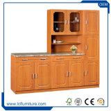 Foshan Meubles de cuisine 6 portes en PVC de couleur des armoires de cuisine en bois
