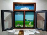 Het Hout van Guangdong en het Openslaand raam van het Aluminium met Netwerk