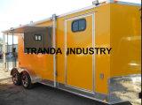 Большая тележка еды европейского стандарта фургонов торгового автомата еды говядины тележки еды
