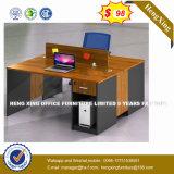 Armoire en bois moderne de verre aluminium / bureau de poste de travail Partition (HX-8N0232)