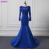 Длинняя синь платьев партии втулки плюс платье вечера размера