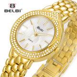 Reloj del diamante de la pulsera del acero inoxidable de la joyería de la manera del reloj de las mujeres de Belbi