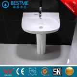 Lavabo de zócalo de cerámica del lavabo del cuarto de baño Bc-7306