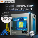 Двойной экструдер два цвета 3D-печати АБС PLA 3D-принтер