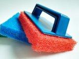 Roulis à haute densité de tissu de récureur de maille de nettoyage superbe