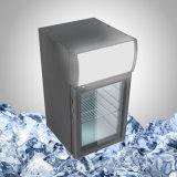 Небольшой Стол холодильник со стеклянной дверью для напитков