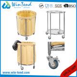 Chariot de toile rond à blanchisserie de Wleding d'hôpital entièrement